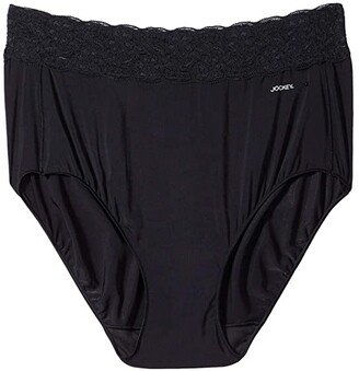 Jockey No Panty Line Promise(r) Tactel(r) 3-Pack Full Rise Lace Brief (Black 3-Pack) Women's Underwear