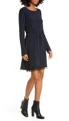 See by Chloe Lace Trim Long Sleeve Minidress