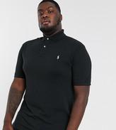 Polo Ralph Lauren Big & Tall Player Logo Pique Polo in Black