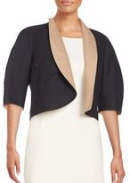 Akris Cropped Open-Front Jacket