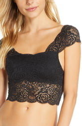Free People Chase Me Lace Brami Crop Top