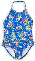 Ralph Lauren Girls 2-6x One-Piece Floral Swimsuit