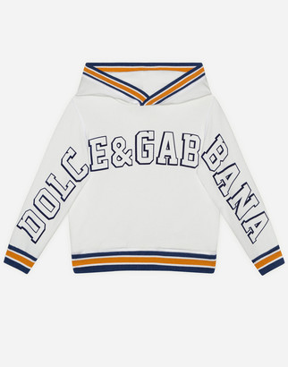 Dolce & Gabbana Jersey Hoodie With Flocked Logo