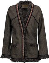 Etro Embellished herringbone wool-blend jacket