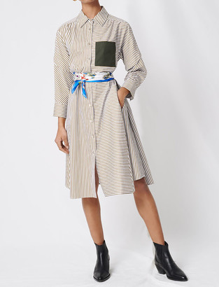 Maje Striped shirt dress with belt