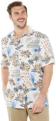 Big & Tall Batik Bay Tropical Scenic Print Button-Down Shirt