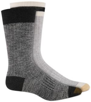 Gold Toe Men's 2-Pk. Textured Crew Socks