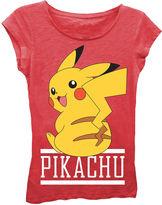 Asstd National Brand Pokemon Girls' Pikachu Sitting Short Sleeve Graphic T-Shirt with Crystalline