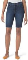 NYDJ Women's Briella Fray Hem Denim Bermuda Shorts