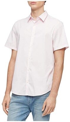 Calvin Klein Short Sleeve Woven (Cerulean) Men's Clothing