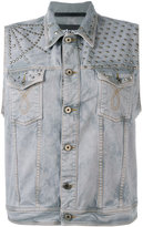 Just Cavalli sleeveless denim jacket - men - Cotton/Spandex/Elastane/Aluminium - 46
