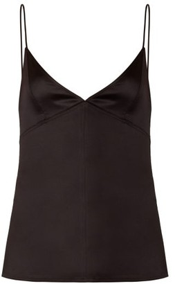 Bottega Veneta V-neck Satin Cami Top - Black