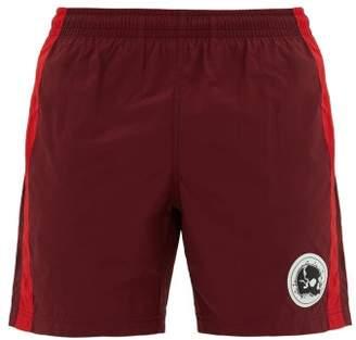 Alexander McQueen Skull Logo Swim Shorts - Mens - Burgundy