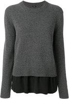 Joseph layered crew neck sweater