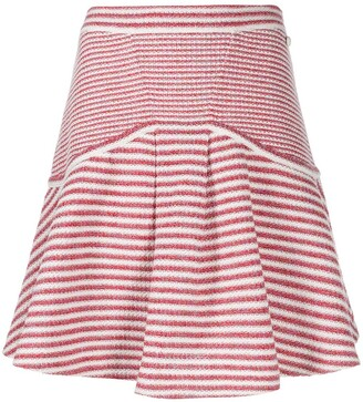 Chanel Pre Owned Striped Knitted Skirt