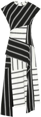 Monse Striped stretch-jersey dress