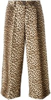P.A.R.O.S.H. leopard print cropped trousers