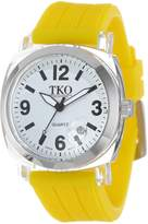 TKO ORLOGI Women's TK558-WY Milano Junior Acrylic Case White Dial Watch