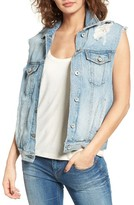 Band of Gypsies Women's Studded Denim Vest