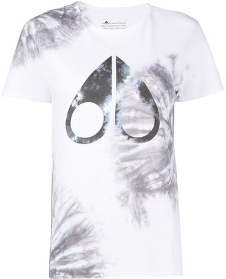 Moose Knuckles logo-print tie-dye T-shirt