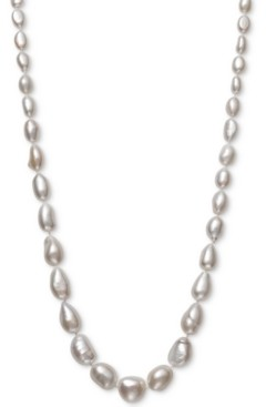 "Belle de Mer Cultured Baroque Freshwater Pearl (6 -11mm) Graduated 17-1/2"" Collar Necklace in 14k Gold"
