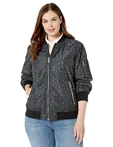 1d838743b Ladies Outerwear Women's Plus Size Bomber Jacket