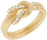 Swarovski Voile Goldtone and Crystal Knot Ring