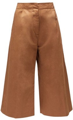 Marni High-rise Cropped Trousers - Brown