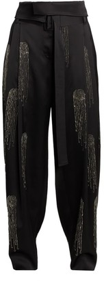 Stella McCartney Embellished Satin Pants