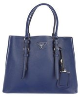 Prada Medium Saffiano Cuir Double Handle Tote