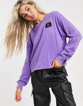 Jordan essential boxy long sleeve t-shirt in purple