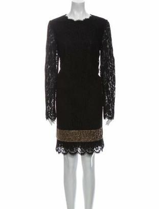 Dolce & Gabbana Lace Pattern Knee-Length Dress w/ Tags Black