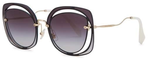 Miu Miu Black Cat-eye Sunglasses