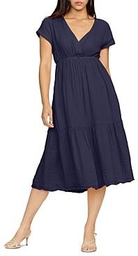 Michael Stars Illana Plisse Midi Dress