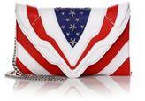 Elena Ghisellini Selina Medium Stars & Stripes Leather Shoulder Bag