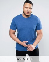 Asos PLUS T-Shirt With Crew Neck In Blue