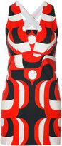 Milly 60s print shift dress - women - Cotton/Spandex/Elastane/Acetate - 2