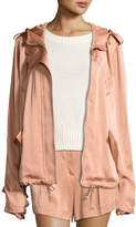 A.L.C. Theo Sateen Utility Jacket, Pink