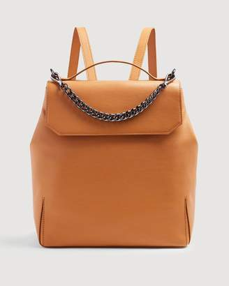 7 For All Mankind Leather Backpack in Cognac