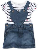 Carter's 2-Pc. Bodysuit and Denim Skirtall Set, Baby Girls (0-24 months)