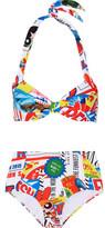 Moschino Printed Halterneck Bikini
