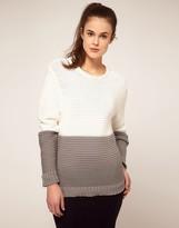 Jonathan Saunders Block Stripe Ripple Knit Sweater