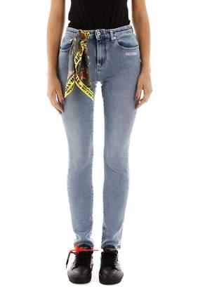 Off-White Off White Bandanna Detail Skinny Jeans