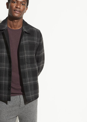 Vince Wool Plaid Shirt Jacket