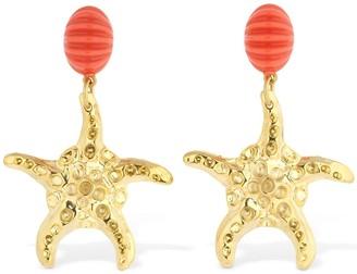 Rixo Gem Starfish Earrings
