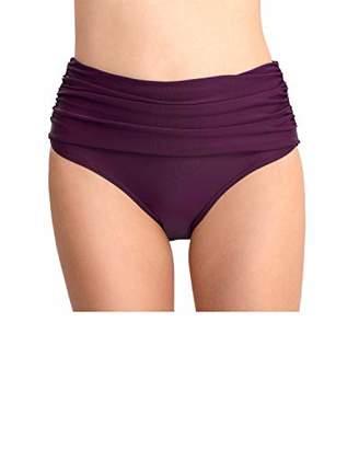 DAYANA Women's Swimwear Retro High Waist Fold Swim Bottom XXL