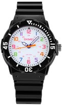 Jewtme Cute Kid Children Watch Colorful dial Watch For Boys Girls Students