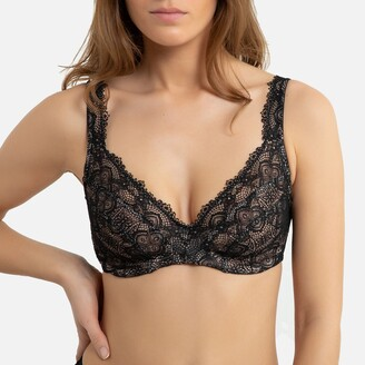 Recycled Lace Underwired Minimiser Bra