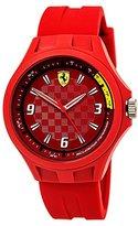 Ferrari Scuderia Men's Quartz Plastic and Silicone Casual Watch, Color:Red (Model: 0830283)