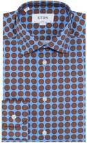 Eton Slim Fit Signature Twill Polka Dot Shirt